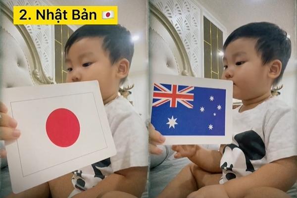 Quý tử nhà Hòa Minzy nhận diện 19 quốc kỳ, dân mạng đồng loạt trầm trồ